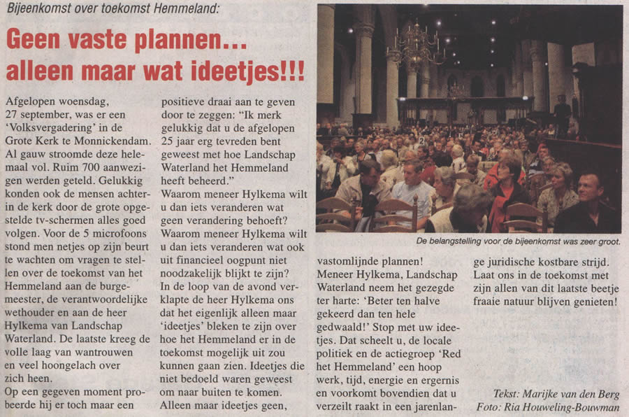 Artikel in Prettig Weekend 5 okt 2006